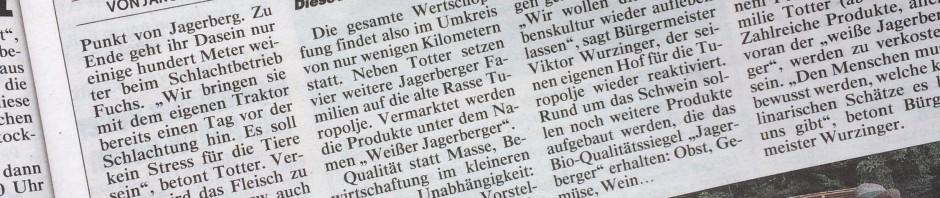 Kronen Zeitung vom 9. Juli 2015